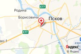 Лицей экономики и основ предпринимательства № 10 карта Псков