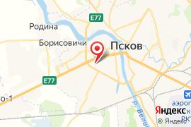 Золотой ключик, детсад № 25 карта Псков