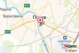 Средняя  общеобразовательная школа № 1 карта Псков
