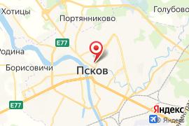 Школа № 5 (для слабослышащих) карта Псков