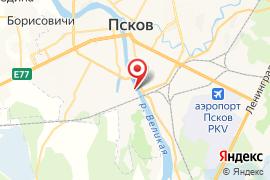 Водно-лыжная база Динамо карта Псков