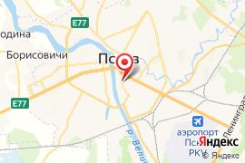 Детская музыкальная школа № 1 карта Псков