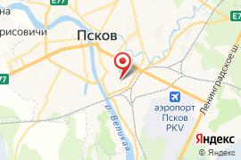 Вечерняя  школа № 1 карта Псков