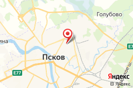 Естественно-математический лицей № 20 карта Псков