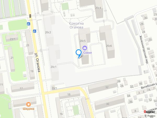 Карта объекта ЖК «Сокол на Оганова»
