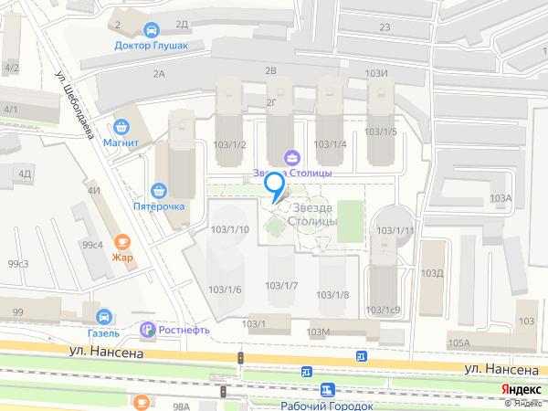 Карта объекта ЖК «Звезда Столицы»