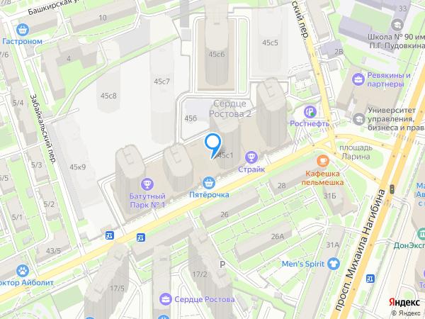Карта объекта ЖК «Сердце Ростова 2»