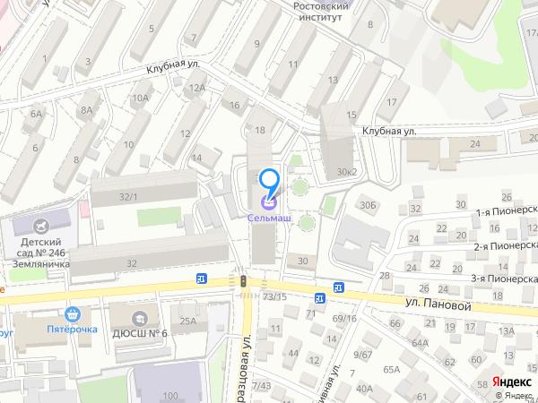 Карта объекта ЖК «Сельмаш»