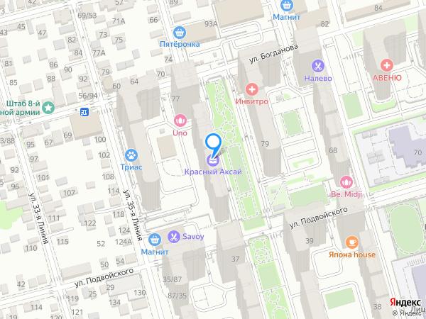 Карта объекта ЖК «Красный Аксай»