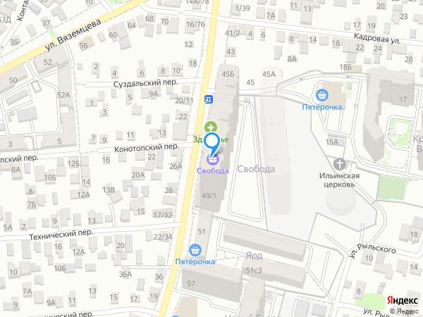Карта объекта ЖК «Свобода»
