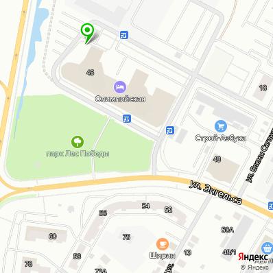 Расположение административного корпуса на карте города
