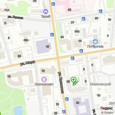 Расположение специального дома Ветеран на карте города