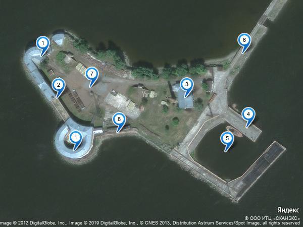 Форт Пётр I: вид со спутника