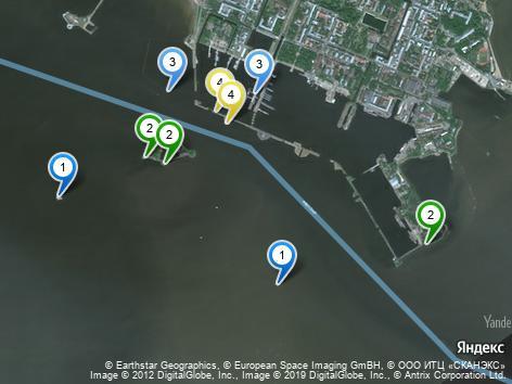 Маяки Кронштадта на карте