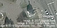 Фотография со спутника Яндекса, улица Ленина, дом 18А в Омске