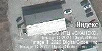 Фотография со спутника Яндекса, улица Дзержинского, дом 61 в Ачинске