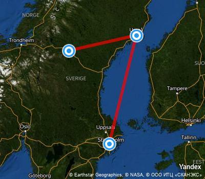 Avstånd Stockholm Umeå
