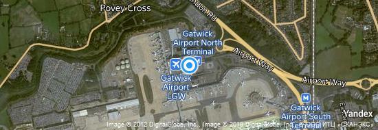 Flughafen London Gatwick - Karte