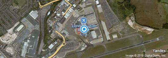 Airport London Luton - Map