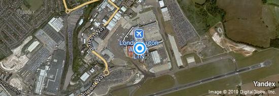 Aeropuerto Londres Luton - mapa