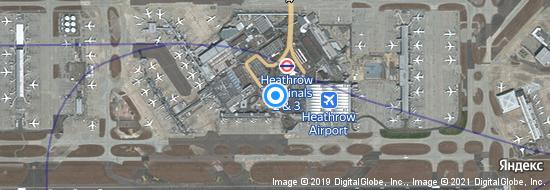 Flughafen London Heathrow - Karte