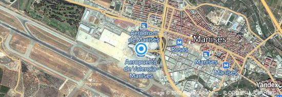 Aéroport de Valence- carte