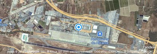 Aeropuerto Alicante - mapa