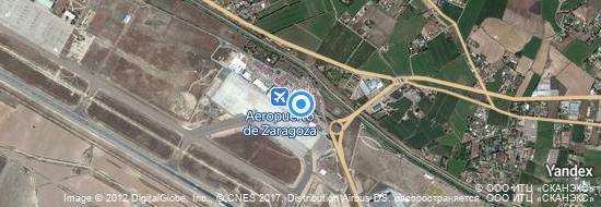 Aéroport de Saragosse- carte