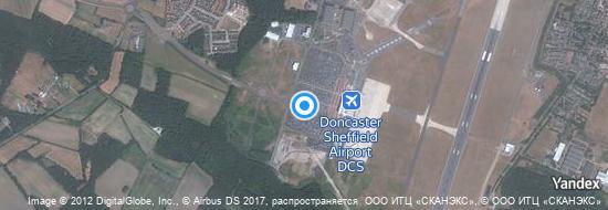 Flughafen Doncaster Sheffield - Karte