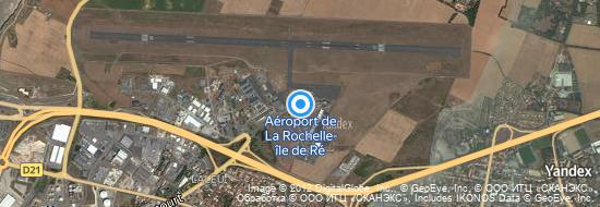 Aéroport de La Rochelle-Île de Ré- carte