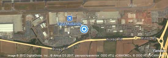 Aéroport d'East Midlands - carte