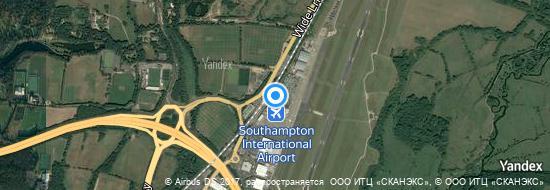 Flughafen Southampton - Karte