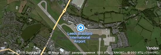 Aeropuerto Leeds - mapa