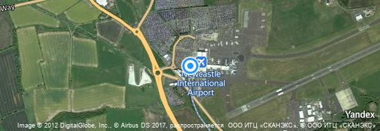 Aéroport de Newcastle- carte