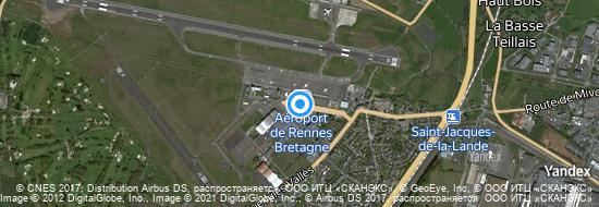 Aéroport de Rennes-Saint-Jacques- carte