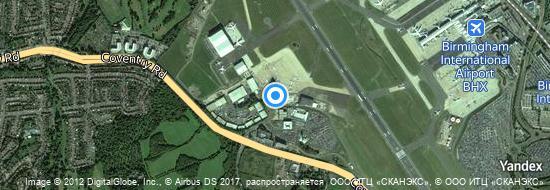 Flughafen Birmingham - Karte