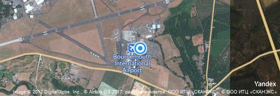 Flughafen Bournemouth - Karte