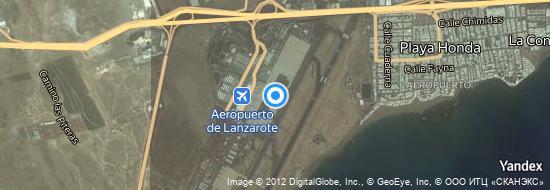 Aeropuerto Lanzarote - mapa