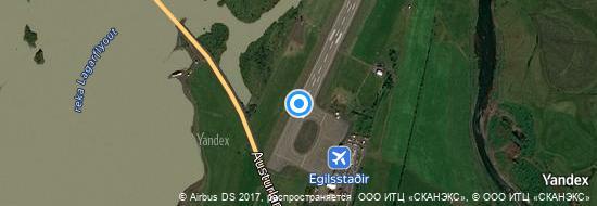 Flughafen Egilsstadir - Karte
