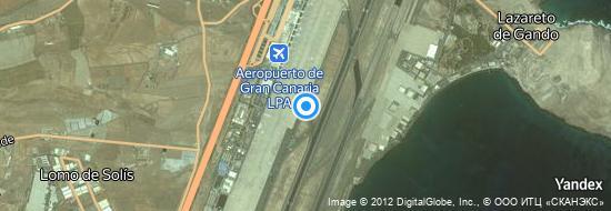 Aeropuerto Las-Palmas - mapa