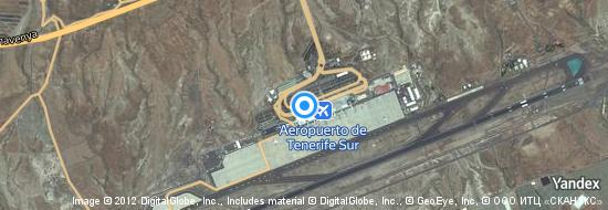 Aeropuerto Tenerife Sur - mapa