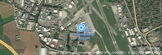 Flughafen Aberdeen - Karte