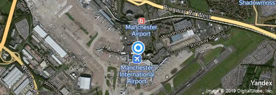 Flughafen Manchester - Karte
