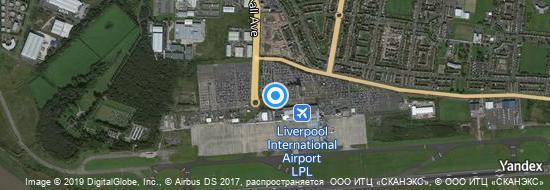 Flughafen Liverpool - Karte