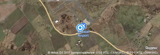Flughafen Kirkwall - Karte