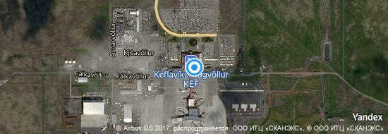Aéroport de Keflavik- carte