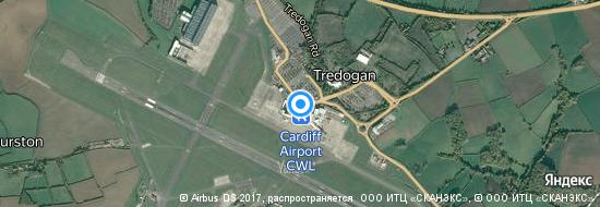 Flughafen Cardiff - Karte