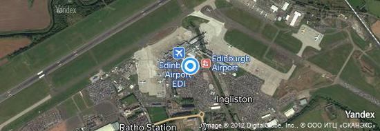 Flughafen Edinburgh - Karte