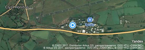 Aéroport d'Exeter- carte
