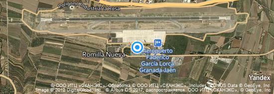 Aeropuerto Granada - mapa